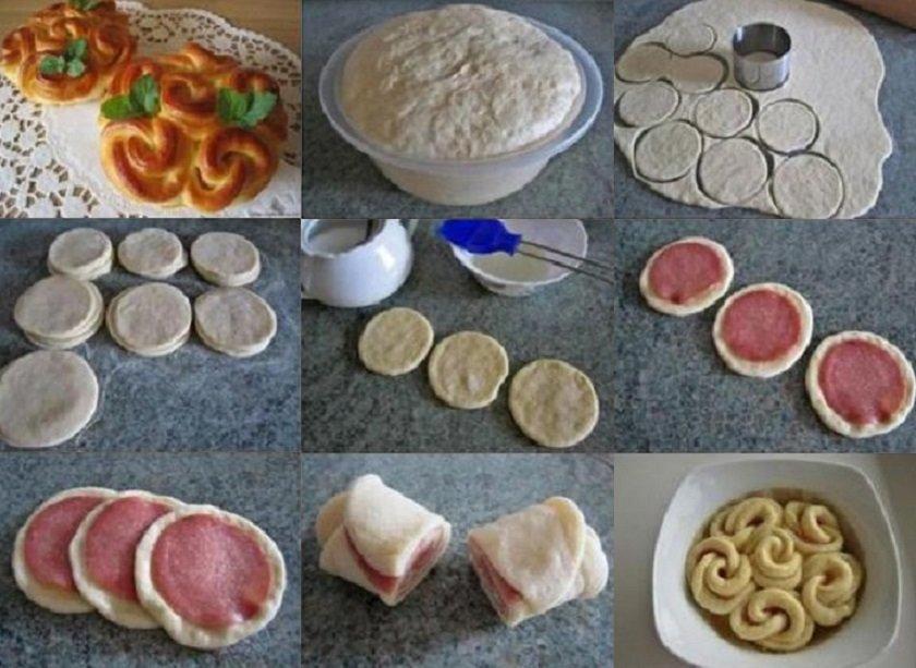 выпечка с колбасой