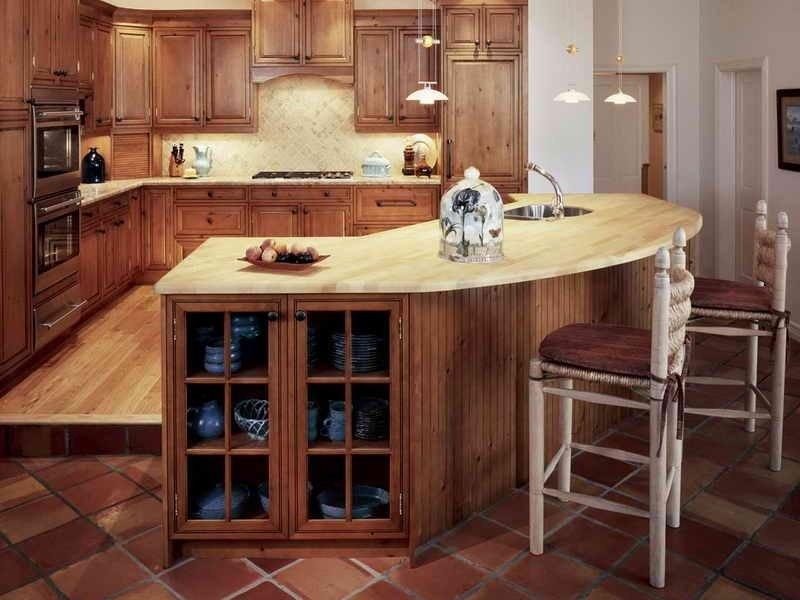 кухня с барной стойкой фото
