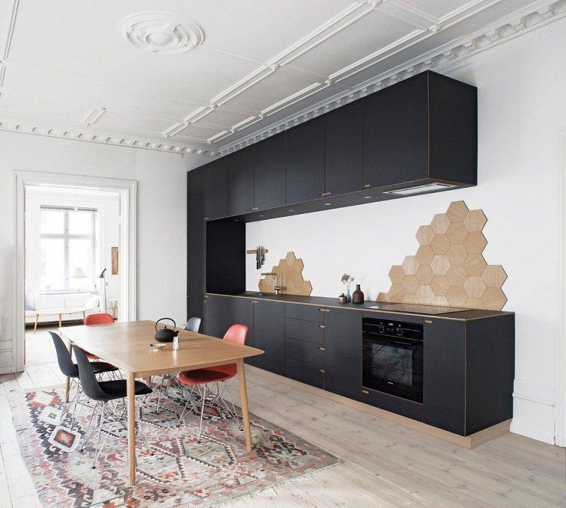 пол для кухни в скандинавском стиле