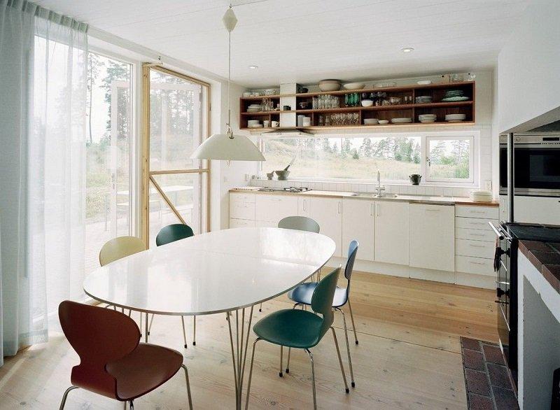 прозрачные занавески на кухне