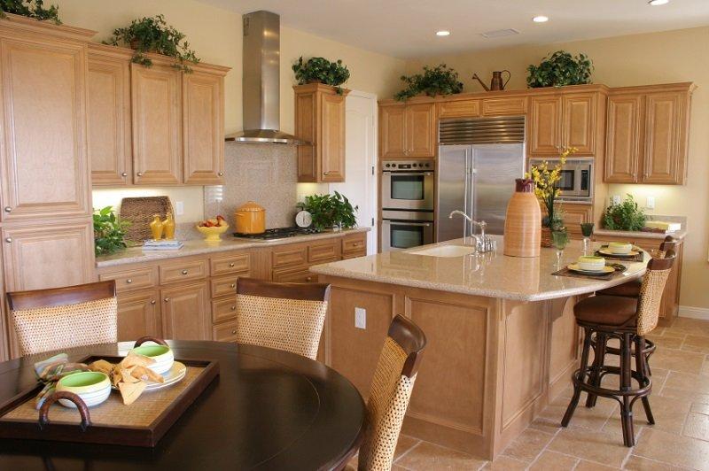 кухня по фен шуй цвет
