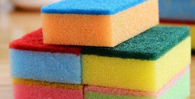 цветные кухонные губки