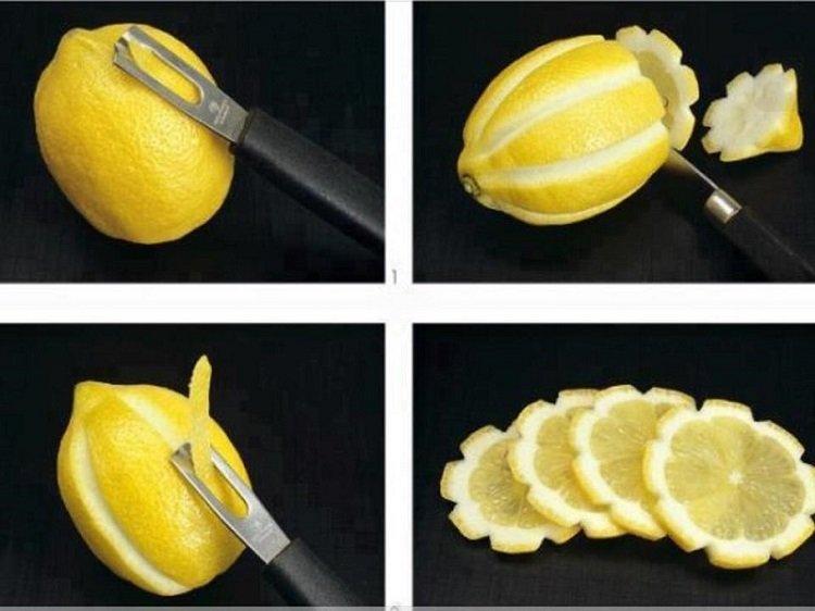 оригинальная нарезка лимона