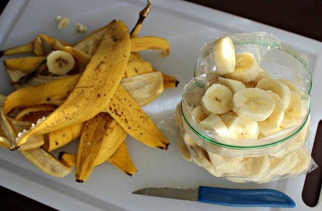 нарезанный банан фото