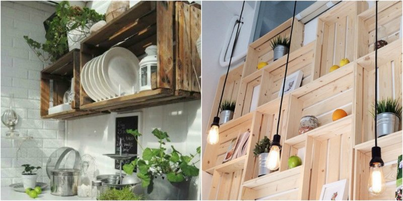 красивые кухонные полки