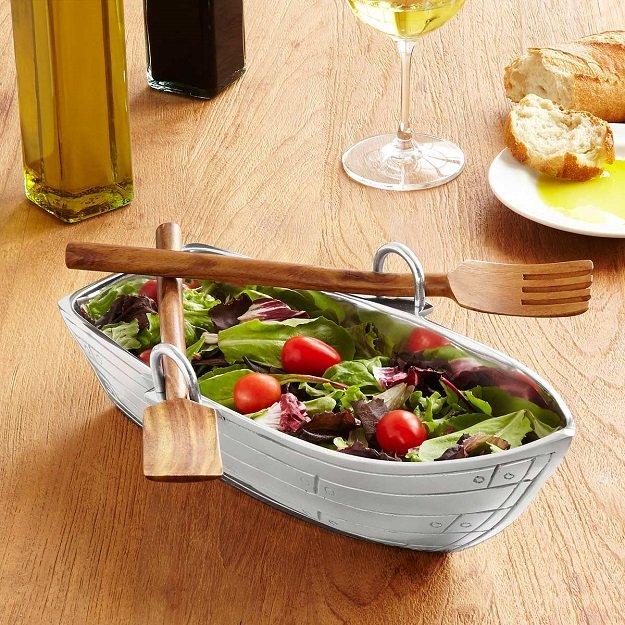 тарелка в форме лодки фото