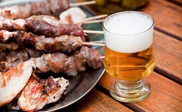 мясо с пивом