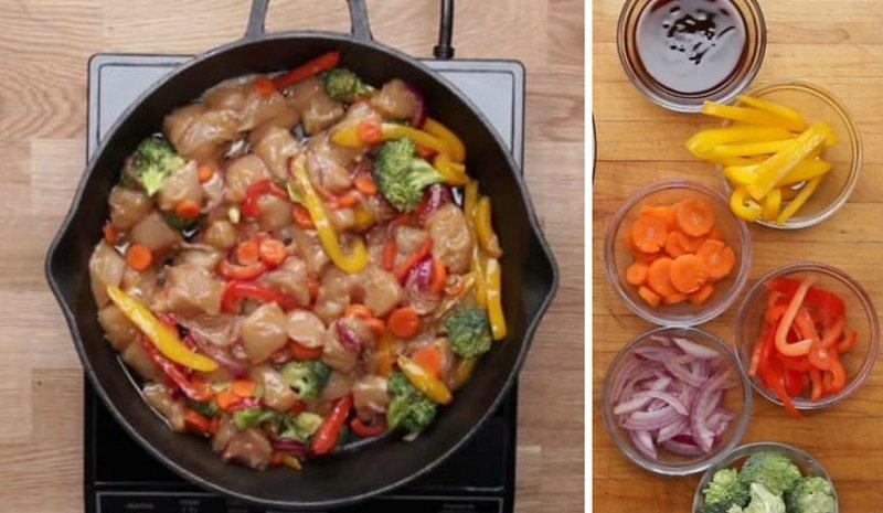 жаркое из курицы и овощей