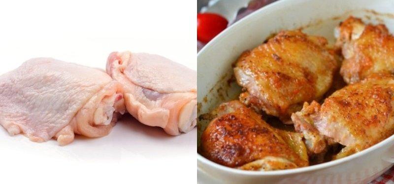 Заготовки из куриной тушки, куриные бедрышки