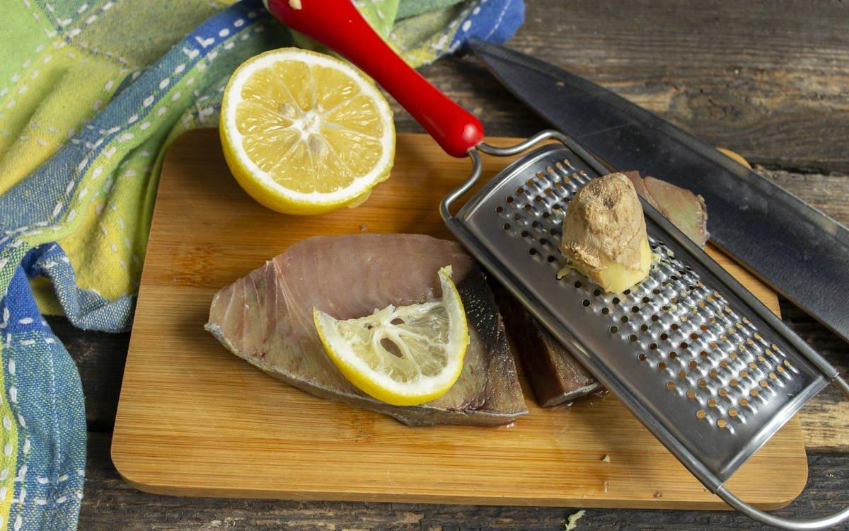 тунец с имбирем