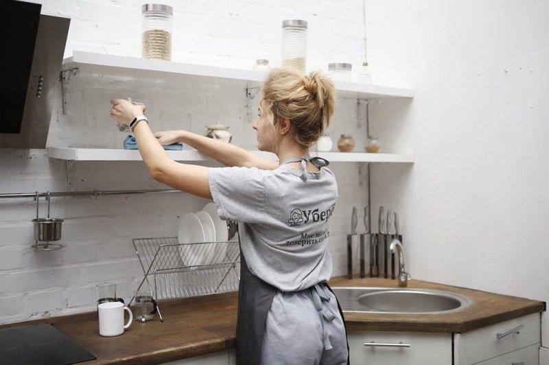 как убрать кухню