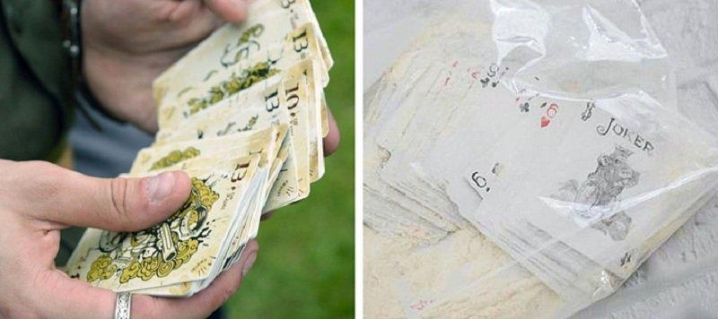 очищение игральных карт мукой