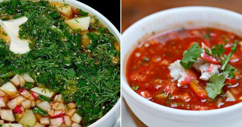 летние холодные супы