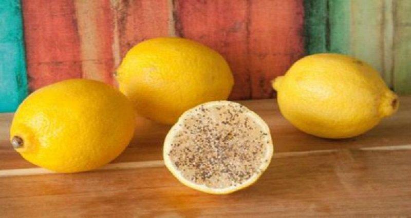 лимон с перцем и солью