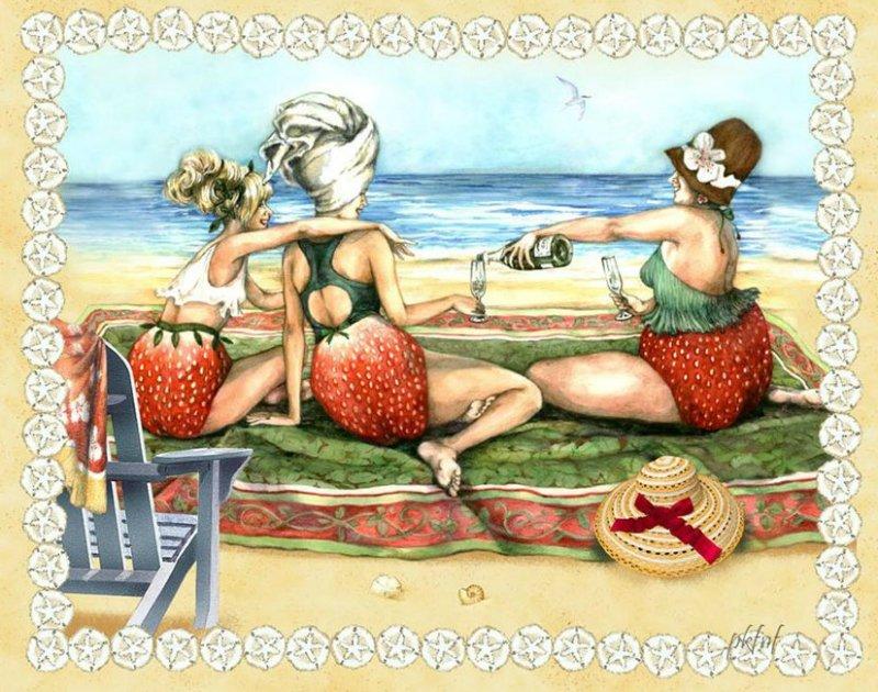Прикольные картинке баба ягодка опять, картинки про любовь