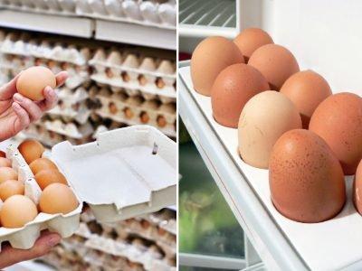 Магазинные яйца
