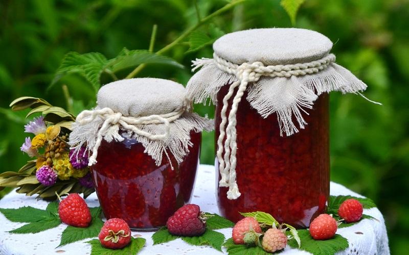 малиновое варенье с мятой