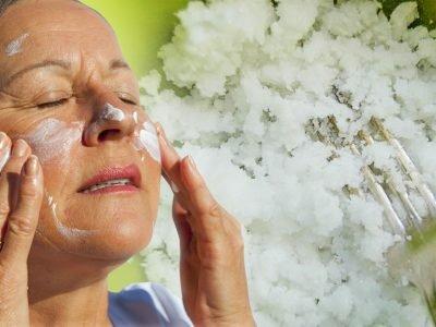 Домашняя маска для лица из морской соли