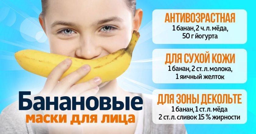 домашняя маска из банана
