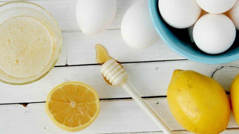 маска для век с белком и лимоном