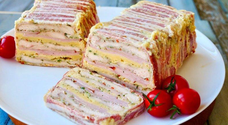 слоеный мясной хлеб