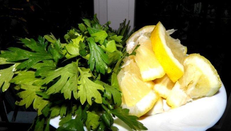 петрушка и лимон фото