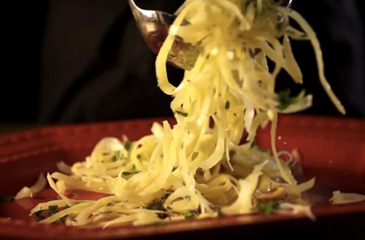 Необычные блюда из картофеля, картофельная лапша