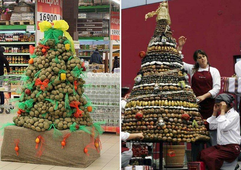 елка из продуктов