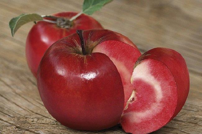 Необычные сорта яблок, «Яблоко-помидор»