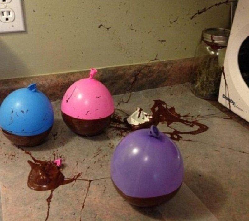 посуда из шоколада
