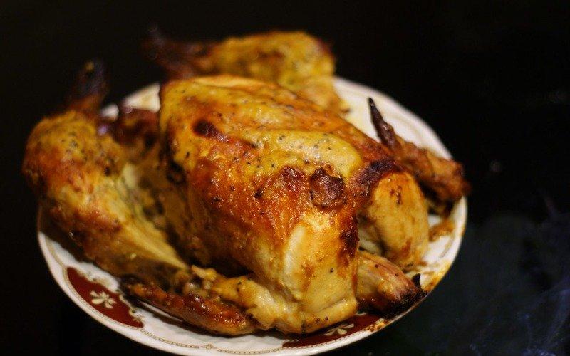 хрустящая курица в духовке