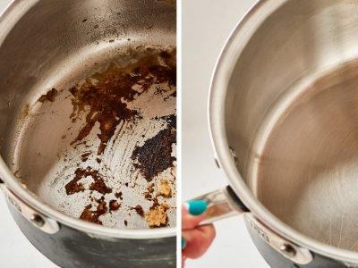Очищение кастрюли: все методы