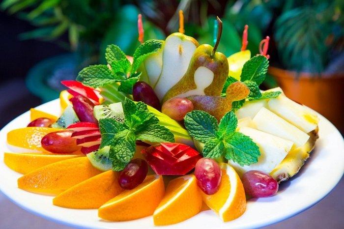 простая фруктовая нарезка фото