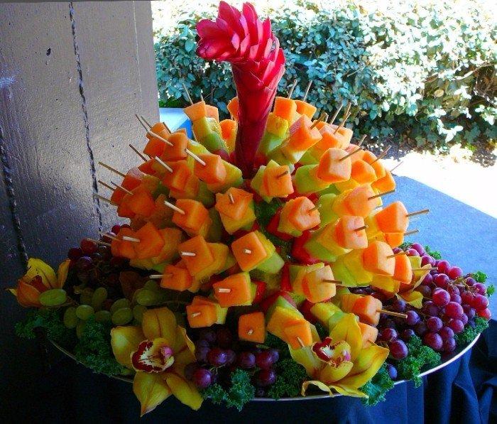 фруктовая нарезка для свадьбы