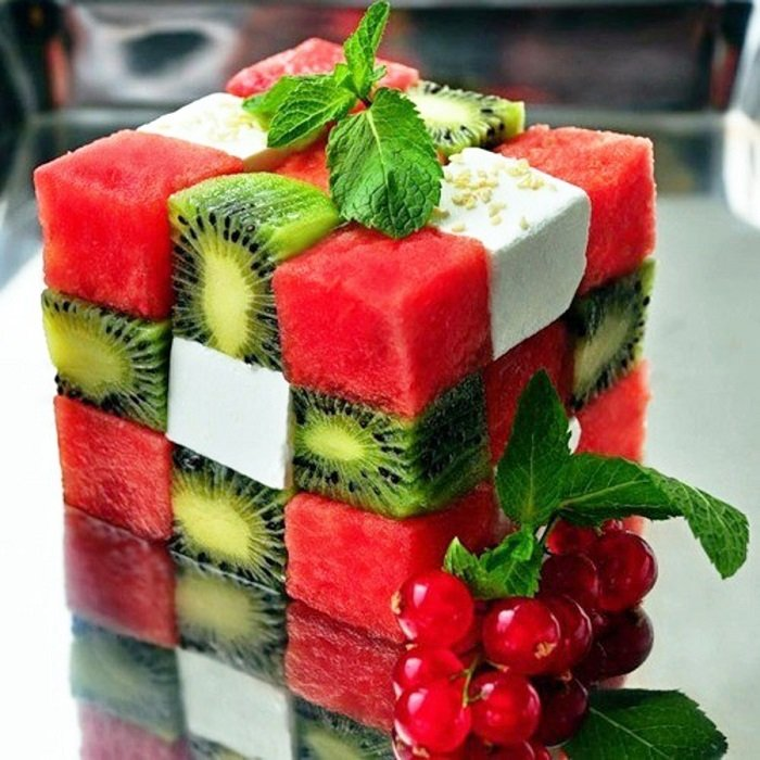 фруктовая нарезка оформление