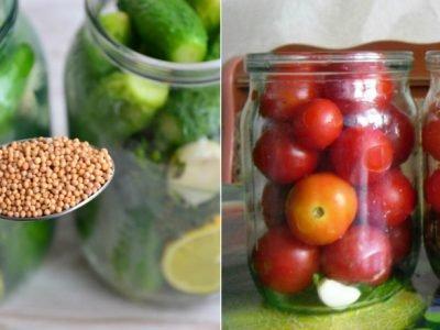 Огурцы и помидоры без стерилизации