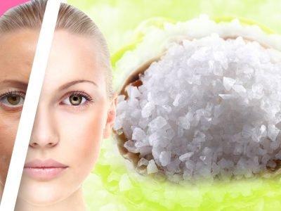 Омоложение кожи солью