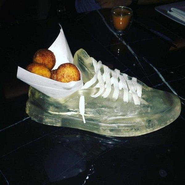 оригинальная подача блюд в ресторане