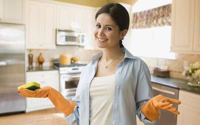вымыть кухню