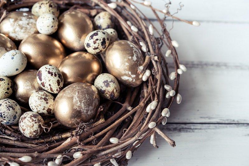 как сделать пасхальное гнездо