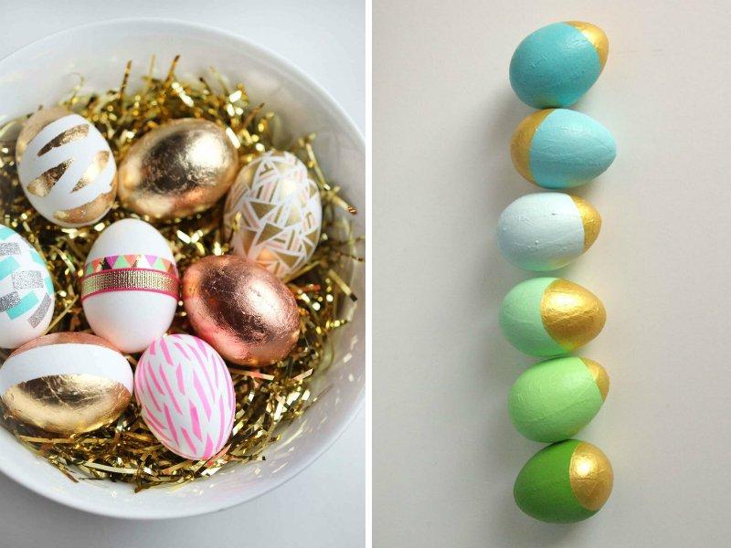 как ярко украсить яйца