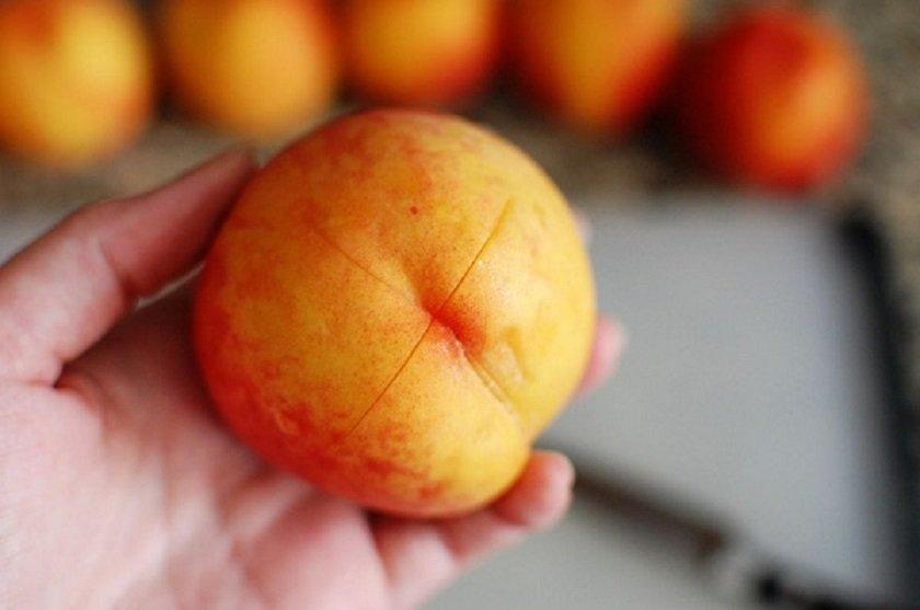 как легко заморозить персики
