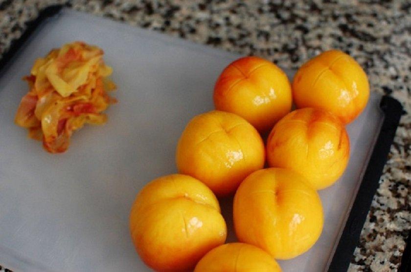 как снять кожицу с персиков