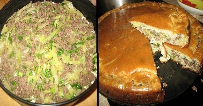 пирог с заливным тестом рецепт