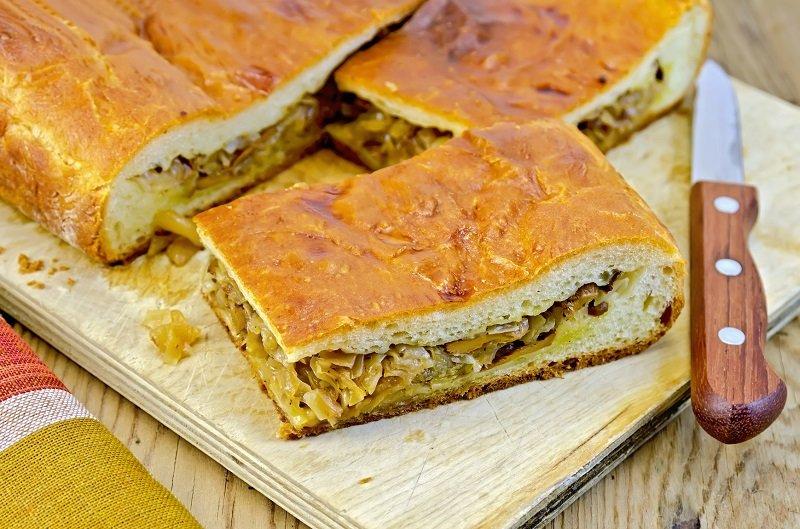 рецепты пирогов с капустой