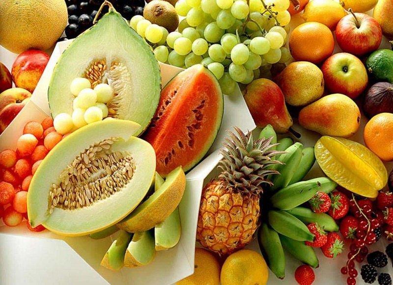 Питание при температуре, свежие фрукты