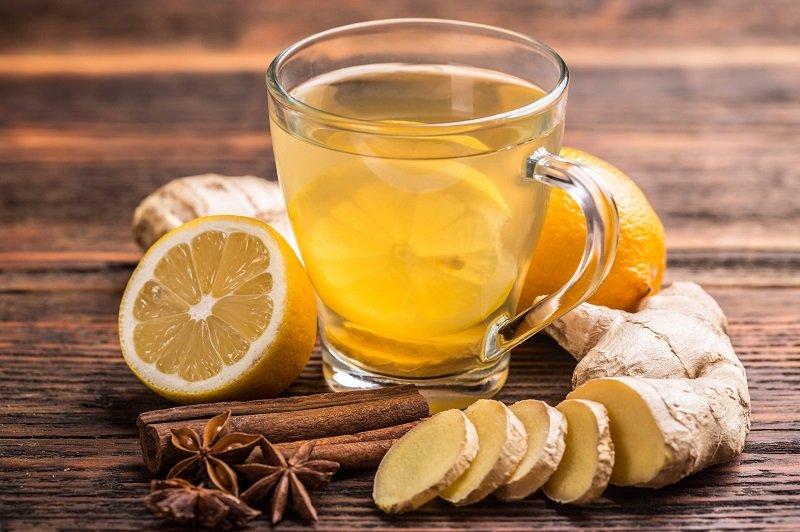 Питание при температуре, имбирный чай