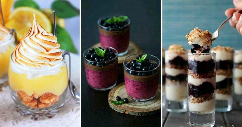 десерт в стакане слоями