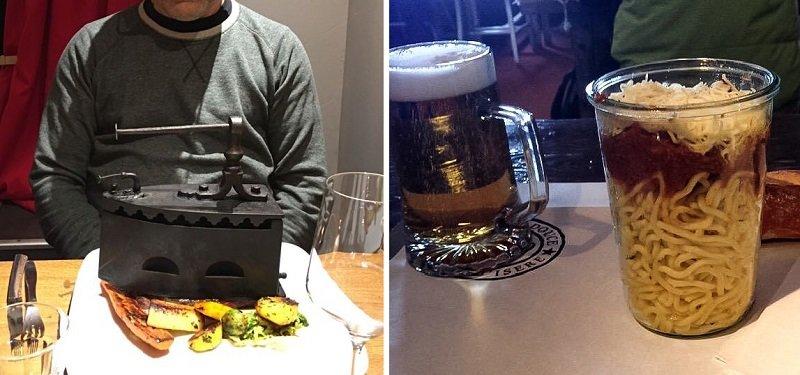 подача в ресторане