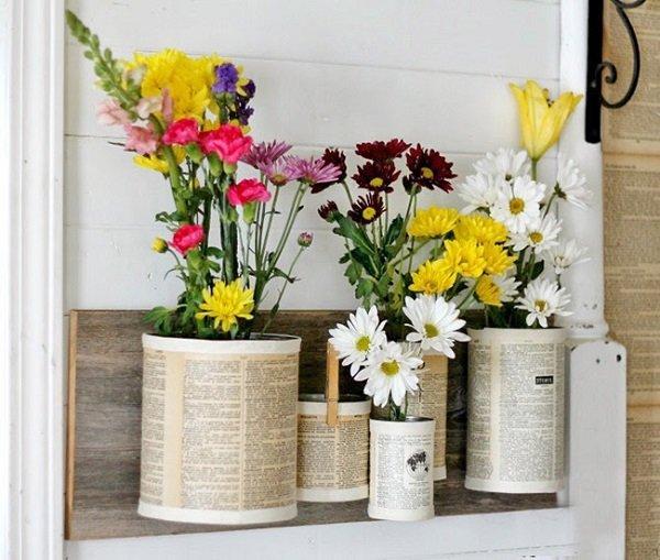 самодельные вазы для цветов